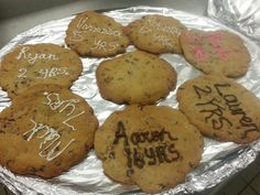 Some of our Cincinnati Cooks students whipped up these amazing cookies for our employees' anniversaries!  #CincinnatiCooks #Cookies