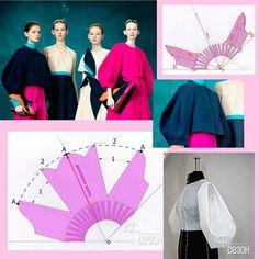 коллекции Delpozo by Josep. Dress Sewing Patterns, Sewing Patterns Free, Clothing Patterns, Fashion Sewing, Diy Fashion, Ideias Fashion, Techniques Couture, Sewing Techniques, Sewing Clothes