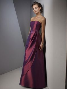 Love the style and the color.  Would make a nice evening dress or bride's maid dress!