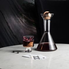 'Tank' wine glass and decanter by Tom Dixon
