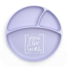 You Go Girl Wonder Plate Our Wonder Bib just got a new BFF, meet the Wonder Plate. food-grade silicone divided plate that suctions to any table or highchair tray to keep meals in place. Designed to make mealtime fun and functional! Baby Nursery Decor, Project Nursery, Toddler Plates, Divided Plates, Best Vitamin C, You Go Girl, Balanced Meals, Baby Boutique, Cool Gifts