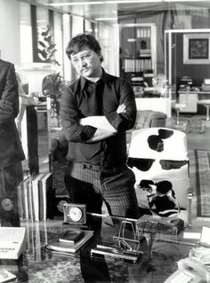Rainer Werner Fassbinder on set