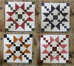 Star Blocks, Block Of The Month, Quilting Ideas, Irish, Patches, Seasons, Quilts, Blanket, Chain