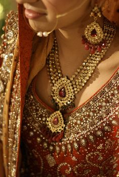 indian bride jewellery set