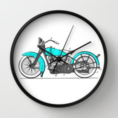 "Harley Davidson Patent Clock, Harley Davidson Clock, Modern Clock, The Harley Davidson Clock, Harley clock, modern Harley clock, vintage by STANLEYprintHOUSE  47.00 USD  Available in natural wood, black or white frames, our 10"" diameter unique Wall Clocks feature a high-impact plexiglass crystal face and a backside hook for easy hanging. Choose black or white hands to match your wall clock frame and art design choice. Clock sits 1.75"" deep and requi ..  https://www.etsy.com/ca/list.."