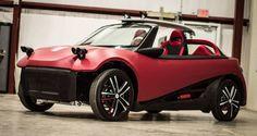 Découvrez la première voiture imprimée en 3D ! Équipée du moteur électrique de la #Renault Twizy, elle nécessite près de 44 heures d'impression #voiture #automobile #cars