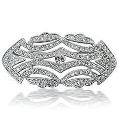 Bling Jewelry Great Gatsby Inspired Art Deco Vintage CZ Wedding Brooch Pin  http://electmejewellery.com/jewelry/brooches-pins/bling-jewelry-great-gatsby-inspired-art-deco-vintage-cz-wedding-brooch-pin-com/