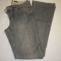 Madison jeanswear boot cut denim Medium wash grey-blue jeans. Perfect/worn once condition! Comfy mid rise, stretch Jean. These are great as 'dressy denim' or casual. Madison jeanswear Jeans Boot Cut