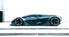Lamborghini and MIT have teamed up to create a wild and futuristic electric hypercar concept. Learn more about the Lamborghini Terzo Millennio here. Maserati, Bugatti, Ferrari, Lamborghini Miura, Supercars, Designer Automobile, Super Yachts, Transportation Design, Sport Cars