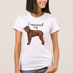Rescue Irish Water Spaniel T-Shirt   cutest pug puppy, pug mask, pug memes hilarious #christmasiscoming #gimmieallthepugglestuffs #pugpillow Sheep Dog Puppy, Beagle Dog, Boxer Dogs, Cute Pug Puppies, Cute Pugs, Australian Cattle Dog, Australian Shepherd, Border Collie, Pug Mask