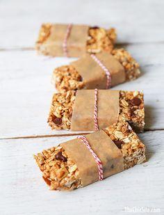 {Coconut almond granola bars.}