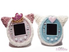 Tamagotchi Cozy Crocheted Soft Cover with Puffy by MythicBiscuits