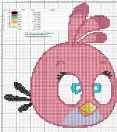 Die 35 Besten Bilder Von Pixel Art Angry Birds Cross Stitches