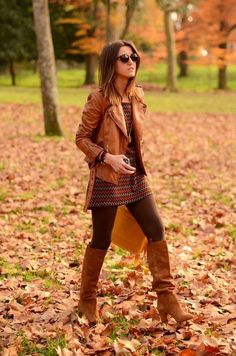 jacket - dress - perfect look - boots - autumn 2014