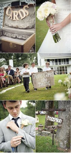 Love the idea of a vintage chic suitcase or something similar on the gift table to put cards in at the reception.