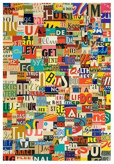 Art - Get Busy - {Paper Collage, x © Greg Lamarche, 2006 Mixed Media Collage, Collage Art, Word Collage, Tachisme, Poesia Visual, Magazin Design, Creation Art, Photocollage, Art Abstrait