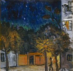 Night, Tiraspol by Mikhail Larionov: History, Analysis & Facts Russian Avant Garde, Avant Garde Artists, Urban Landscape, Art Forms, It Works, History, Night, Artwork, Painting