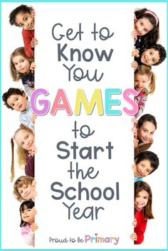 """Set a friendly tone in your classroom with these 30 """"Get to Know You"""" games for kids that are perfect for back to school or when welcoming a new student. These icebreaker activities are great for elem Icebreaker Games For Kids, Icebreakers For Kids, School Games For Kids, Back To School Activities, School Ideas, School Resources, Human Resources, Community Building Activities, Building Games For Kids"""