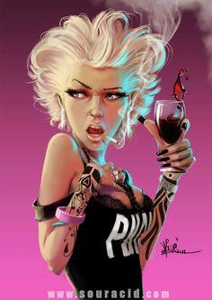 Punk by Karl Liversidge, via Behance #wine