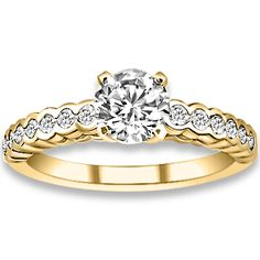 0.85 ctw 14k YG Natural G-H Color, I1 Clarity, Accent Diamonds Engagement Ring http://www.pricepointshop.com/product.asp?idproduct=20408