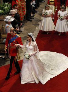Kate's royal wedding dress by Sarah Burton of Alexander McQueen
