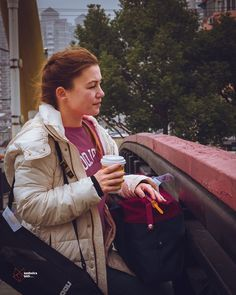 With her I would gladly be lost anywhere - Lost in China part 3 #shanghai #love #china #tired #bridge #coffetime #coffee #portrait #portraitphotography #photographyy #her