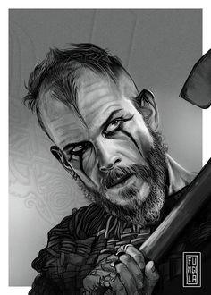 FLOKI on Behance – Norse Mythology-Vikings-Tattoo - fantasyart Vikings Tv Series, Vikings Tv Show, Twins Tattoo, Guerrero Dragon, Viking Drawings, Viking Warrior Tattoos, Viking Wallpaper, Ragnar Lothbrok Vikings, Viking Series