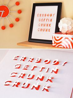 More Than Words: 20 Ways to Create Your Own Beautiful Typographic Decor | Brit + Co.