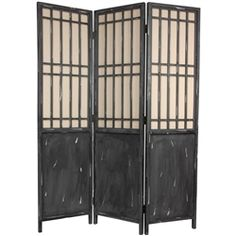 6 Ft. Tall Vintage Lattice Decorative Folding Screen