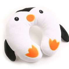 Penguin Neck Pillow. For the little ones on those long car trips. The website has other animal options too!