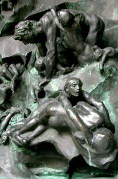 AUGUSTE RODIN. La Porte de l'Enfer (détail)