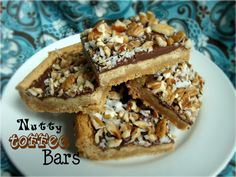 Nutty Toffee Bars from Chocolate, Chocolate and More