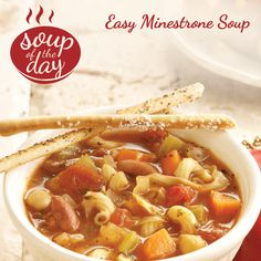 Easy Minestrone Soup Recipe from Taste of Home