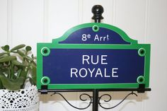 Paris street sign post table number holder by Thestandshop on Etsy, $12.00