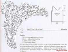 Irish lace, crochet, crochet patterns, clothing and decorations for the house, crocheted. Crochet Fabric, Thread Crochet, Free Crochet, Crochet Top, Crochet Borders, Crochet Diagram, Crochet Patterns, Charts And Graphs, Irish Lace