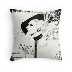 """FILM NOIR"" Throw Pillows by Alchimia | Redbubble"