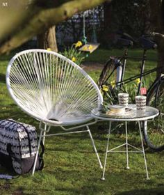 Acapulco Chair And Table As Outdoor Setting In White (note Available From  Big W Jamie