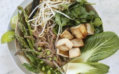 What makes this delicious Pho extra special is the broth and all the yummy ingredients that creates it. Lemon grass, anise pods, whole cloves, and plum vinegar creates a rich umami taste that compliments the soup perfectly.
