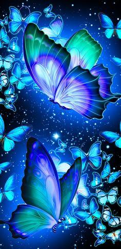 Purple Butterfly Wallpaper, Wallpaper Nature Flowers, Beautiful Flowers Wallpapers, Flower Phone Wallpaper, Beautiful Nature Wallpaper, Butterfly Art, Beautiful Butterflies, Whats Wallpaper, Cute Galaxy Wallpaper