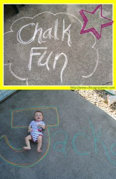 Our favorite pins with creative ideas for sidewalk chalk!