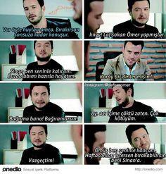 Kimle kalsın? Karma, Learn Turkish Language, Funny Times, Mood Pics, Humor, Turkish Actors, Film Movie, Movies Showing, Cringe