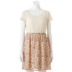 Speechless Lace Floral Babydoll Dress - Juniors #Kohls