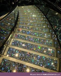 Staircase made with Swarovski crystals