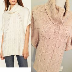 Design history cowl neck sweater Super soft and cozy! Oatmeal color (photo on right in covershot-left is to show it modeled).  Sized as an XS, but due to poncho style, can easily fit a size XS-L.  I wore this when I was a size 14 and again when I was a size 4. Great condition.  Worn only 3-4 times.   No trades. Reasonable offers welcome Note: 20% off bundles of 2+ items in my closet! Design History Sweaters