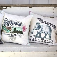 Junk Gypsy Sequin Embroidered Pillow Covers #pbteen -Believe in Tall Tales. Elephant pillow