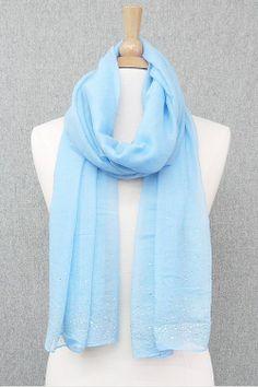 Shimmering Blue Scarf.