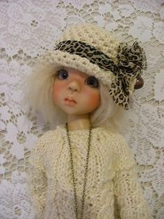 "OOAK Cable Outfit for Kaye Wiggs 18"" BJD Layla and other same size dolls"