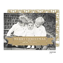 Gold Banner Flat Digital Holiday Photo Card PPHC003 Fine Stationery | Southern Girl General Store