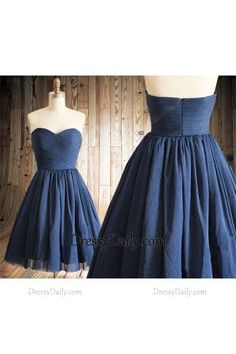Gorgeous Handmade A Line Sweetheart Tulle Ruched Bridesmaid Dress - Homecoming | Cocktail | Party