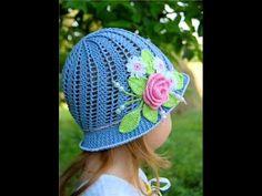 Красивые вязаные крючком шляпы для девочек. Beautiful crochet hats for girls - YouTube
